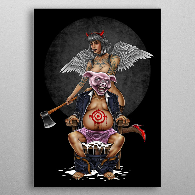 Fascinating  metal poster designed with love by Winya. Decorate your space with this design & find daily inspiration in it. metal poster