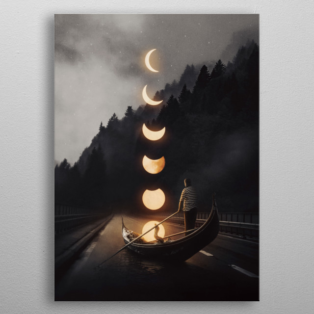 Moonlight metal poster