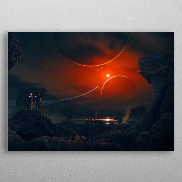 Trappist Explorer metal poster