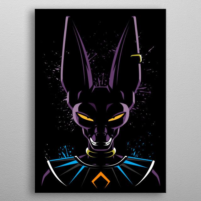 God of destruction metal poster