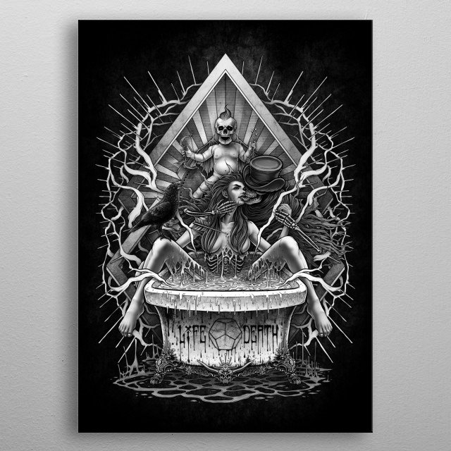 Fascinating metal poster designed by Winya Sangsorn. Displate has a unique signature and hologram on the back to add authenticity to each design. metal poster