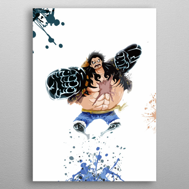 Luffy / Onepiece / Splash Art metal poster