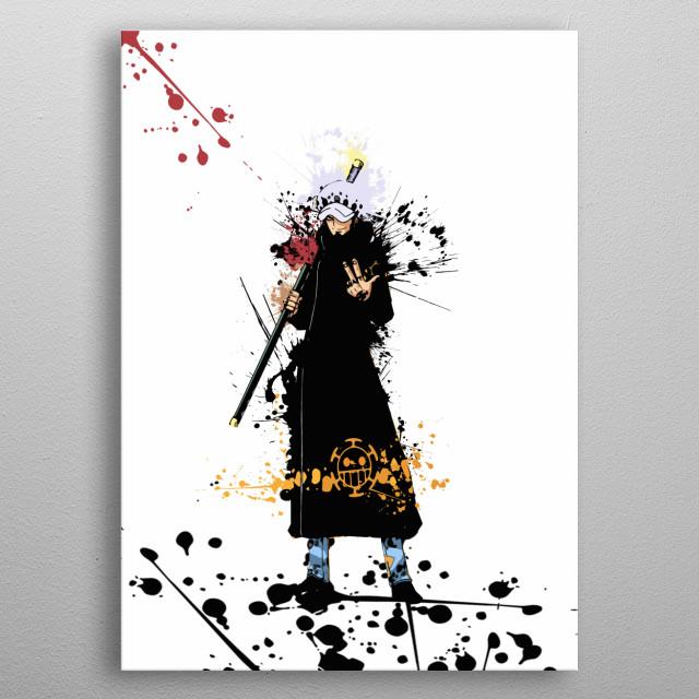 Trafalgar / Onepiece / Splash Art metal poster