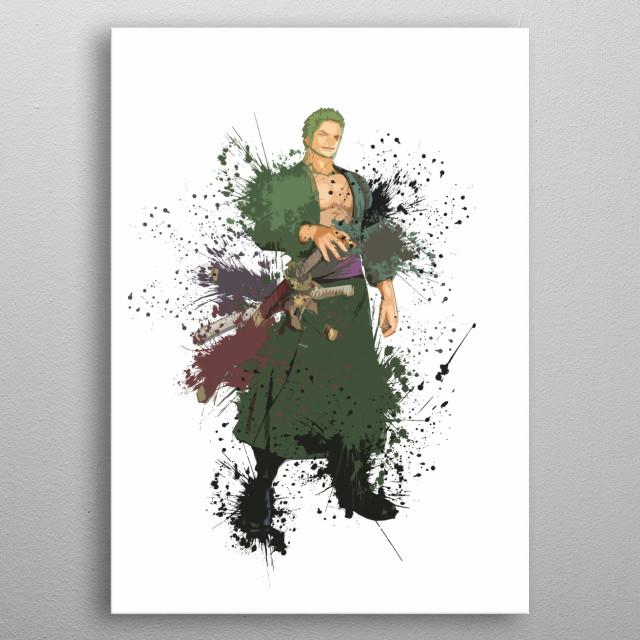Zoro / Onepiece / Splash Art metal poster