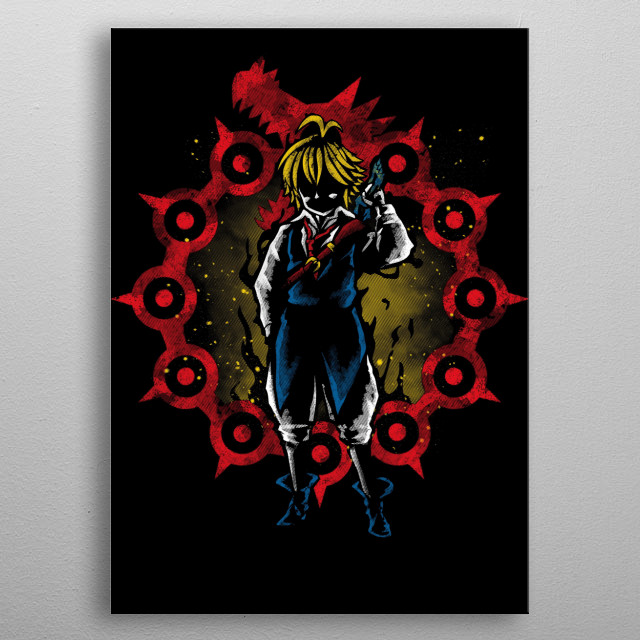 Fascinating metal poster designed by Andriu Ilustración. Displate has a unique signature and hologram on the back to add authenticity to each design. metal poster