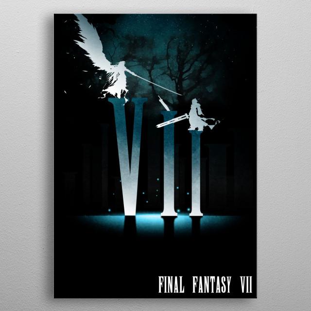 Squall VS Sephiroth metal poster