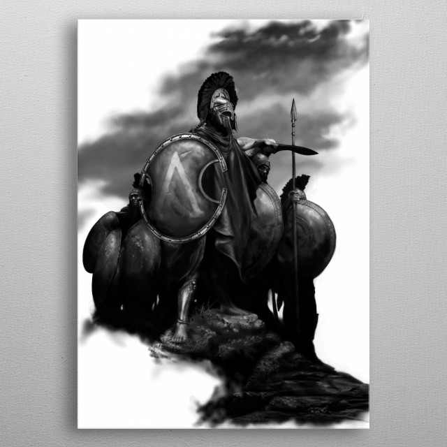 Spartans metal poster