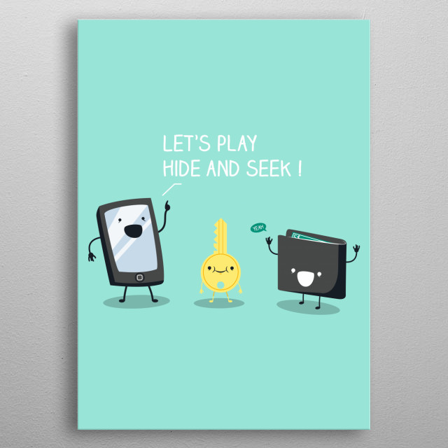 Let's play a game ! metal poster