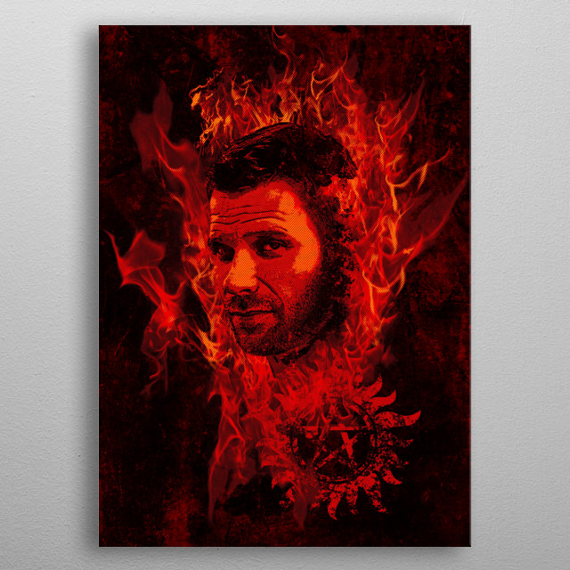 Lucifer In Flames metal poster