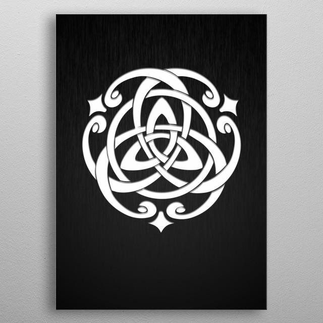 Celtic Knot metal poster