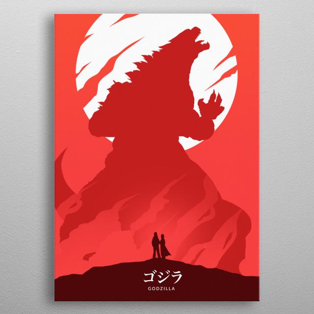 Godzilla metal poster
