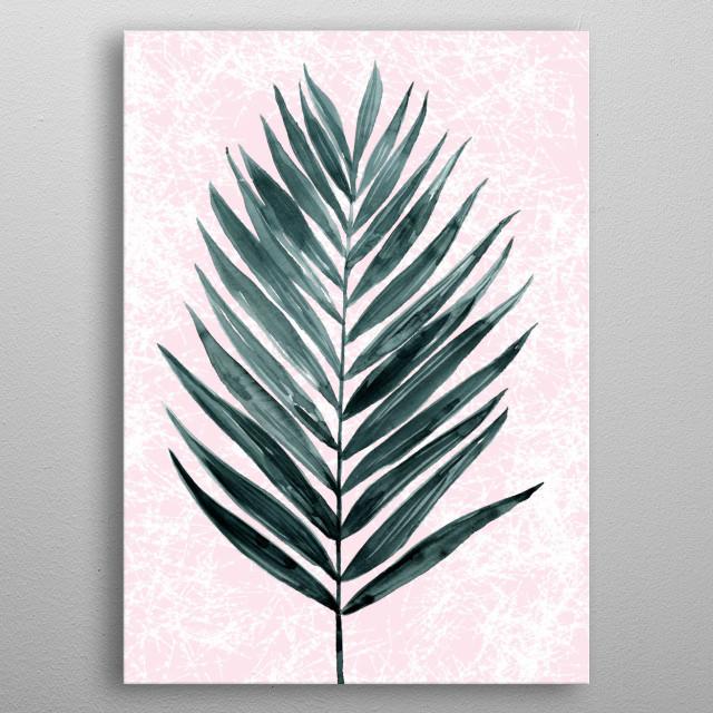 minimal plant2 metal poster