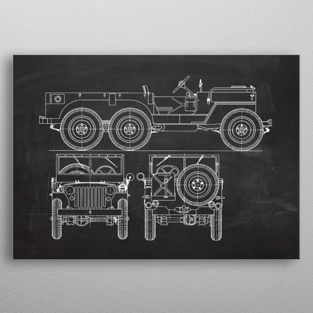 1942 Jeep Willys T14 metal poster