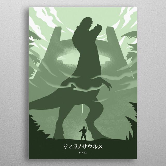 T-Rex metal poster