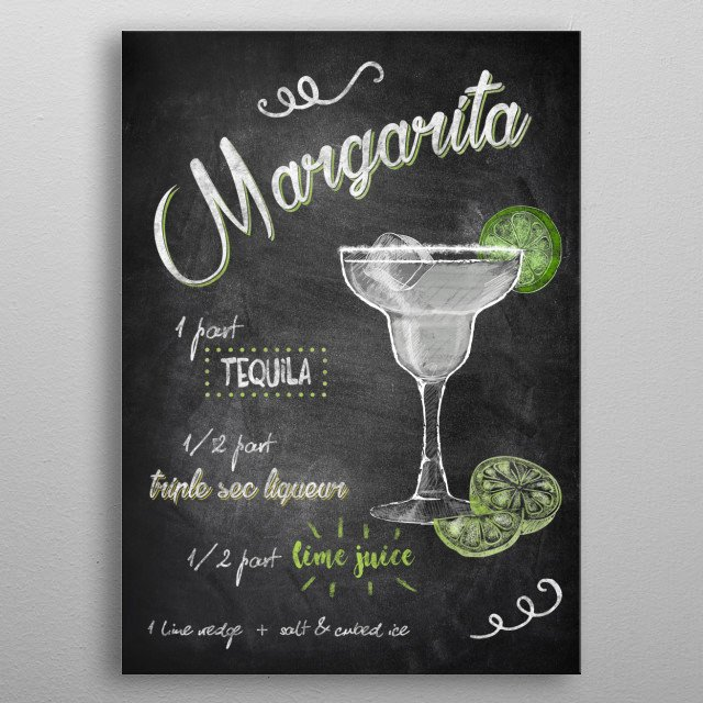 Margarita metal poster