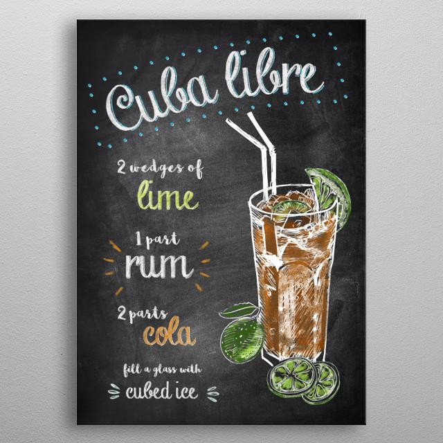 Cuba Libre  metal poster