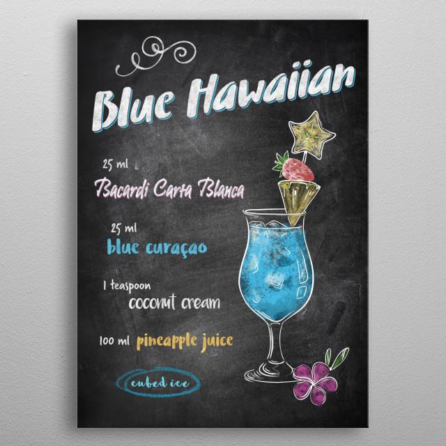 Blue Hawaiian  metal poster
