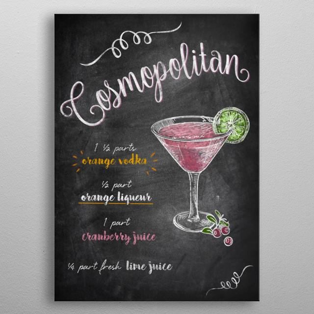 Cosmopolitan metal poster