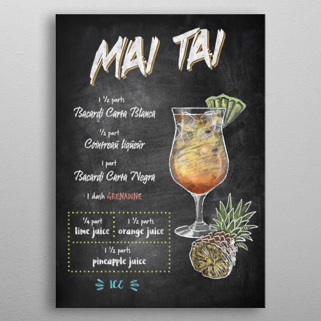 Mai Tai metal poster