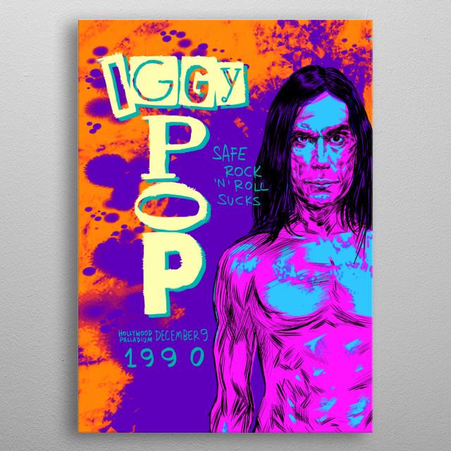 Iggy Pop metal poster
