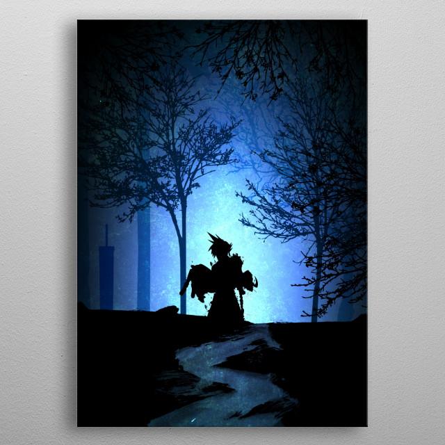 Final Fantasy VII metal poster