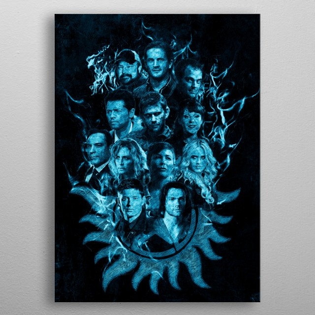 High-quality metal print from amazing Supernatural collection will bring unique style to your space and will show off your personality. metal poster