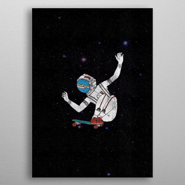spaceskate metal poster