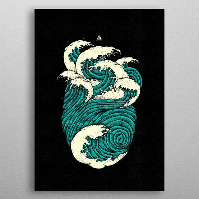 hearth ocean metal poster