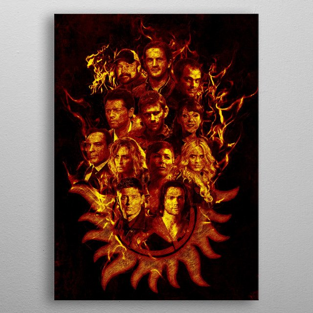 Supernatural Legends - Fire metal poster