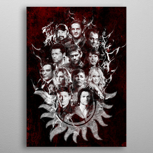 Supernatural Legends - White metal poster