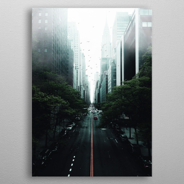 Mist city metal poster