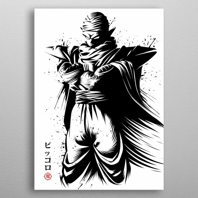 Piccolo Ink metal poster