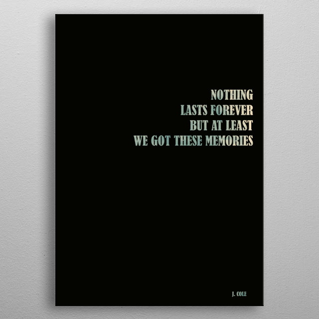 J. Cole - Quote metal poster