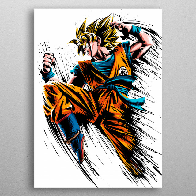 High-quality metal print from amazing Splatter Characters collection will bring unique style to your space and will show off your personality. metal poster