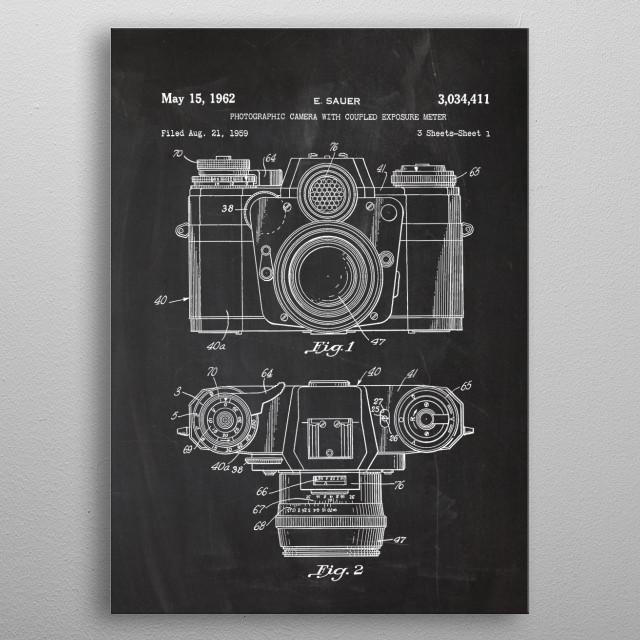 1959 Photographic Camera metal poster