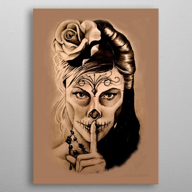 Santa Muerte By Claudia Pintore Metal Posters Displate