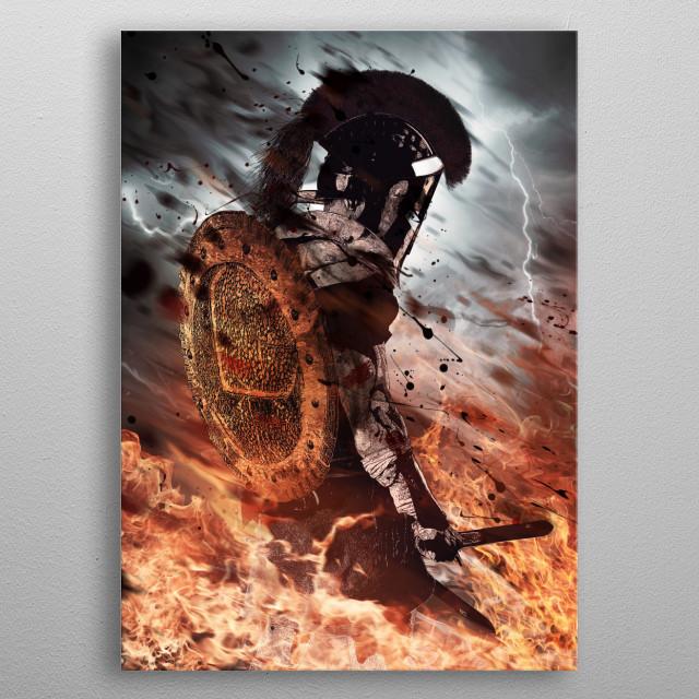 Last Spartan Standing metal poster