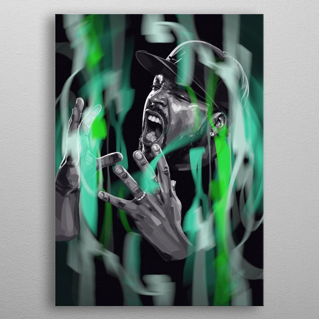 Ice Cube metal poster