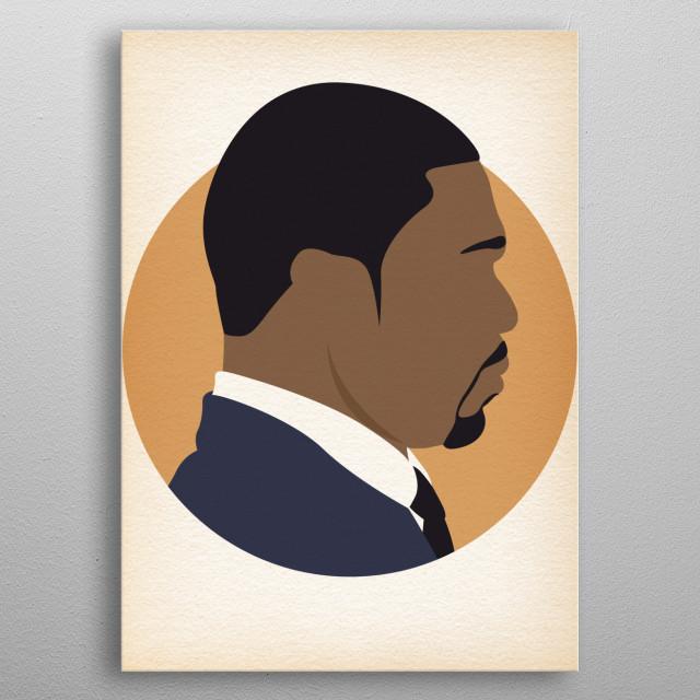 50 Cent - Hip Hop Heads Minimalist metal poster