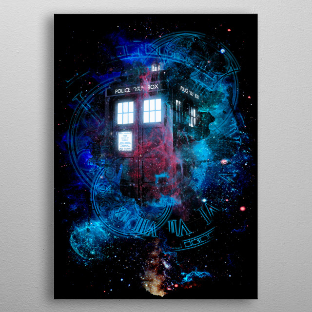 Time and Space metal poster