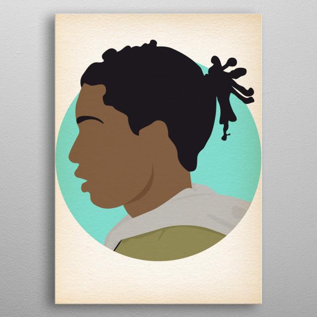 ASAP Rocky - Hip Hop Heads Minimalist metal poster