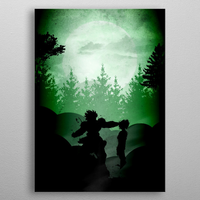 Millenium Warrior metal poster