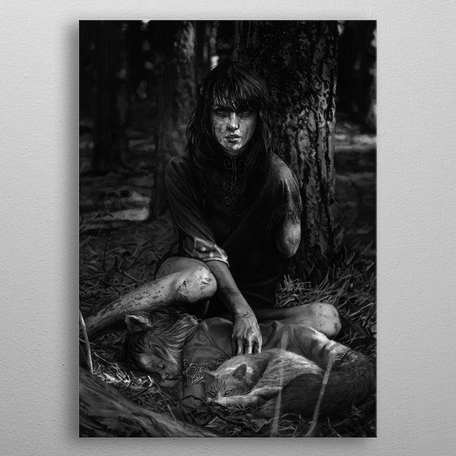 Fascinating metal poster designed by David Müller. Displate has a unique signature and hologram on the back to add authenticity to each design. metal poster