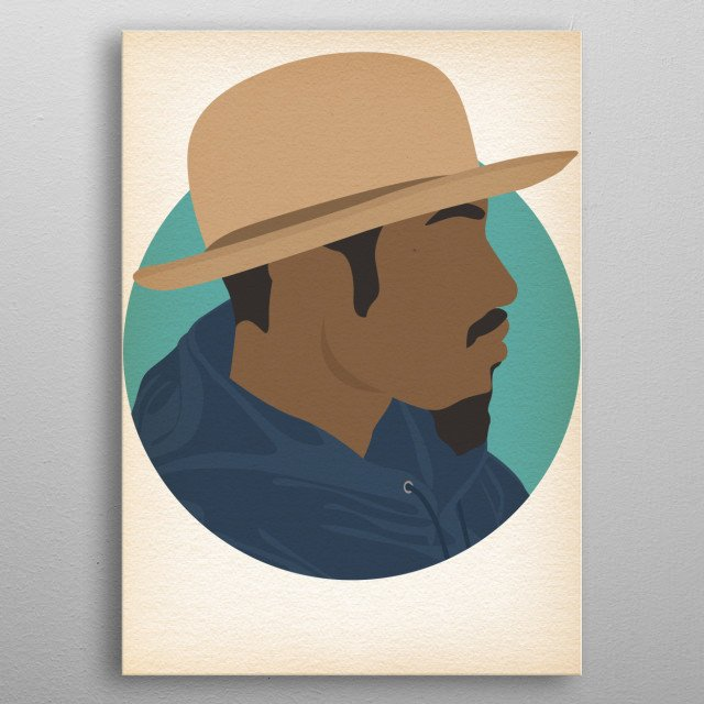 Andre 3000 - Hip Hop Heads Minimalist metal poster