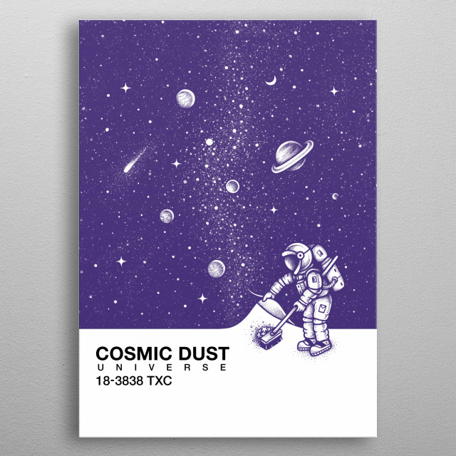 Cosmic Dust metal poster