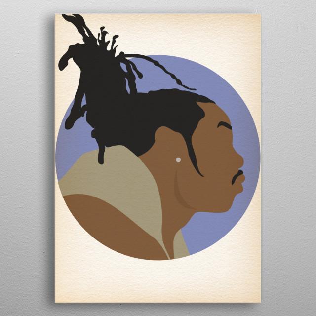 Busta Rhymes - Hip Hop Heads Minimalist metal poster