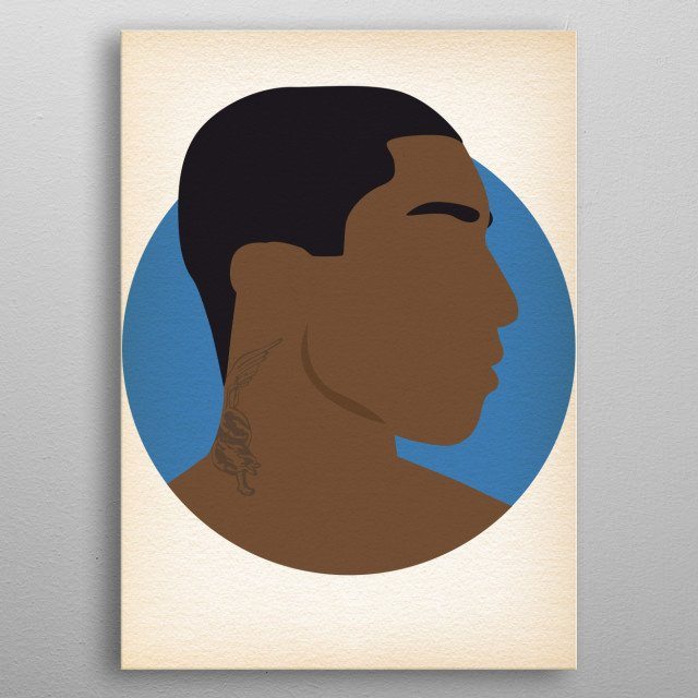 Pharrel Williams - Hip Hop Heads Minimalist metal poster