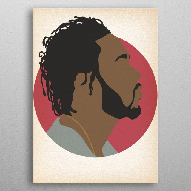 Kendrick Lamar - Hip Hop Heads Minimalist metal poster