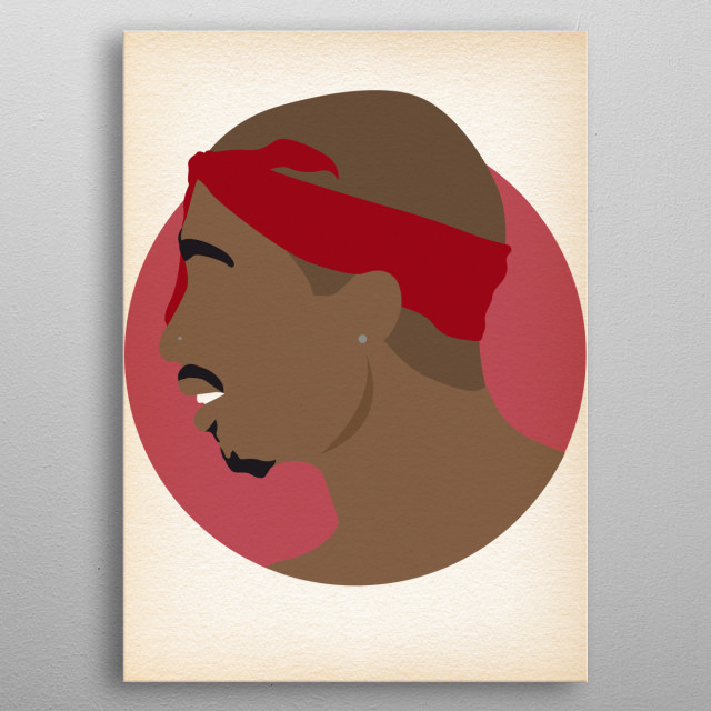 Tupac - Hip Hop Heads Minimalist metal poster