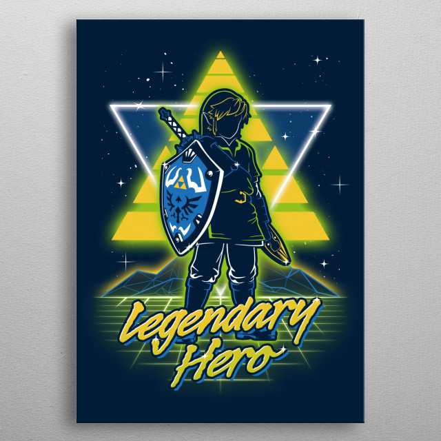 High-quality metal print from amazing Retro Characters collection will bring unique style to your space and will show off your personality. metal poster